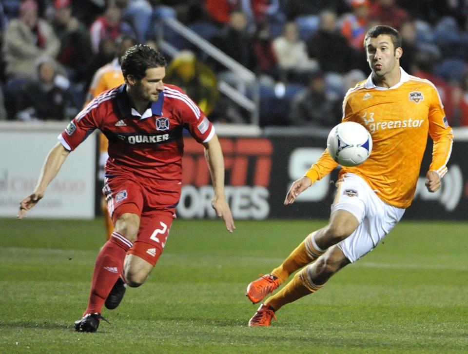 Will Bruin scored twice and the Dynamo won, 2-1, in the opening round of the MLS Eastern Conference playoffs.