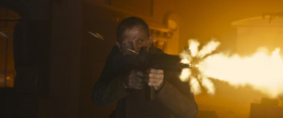 "Daniel Craig returns to the role of James Bond in ""Skyfall."""