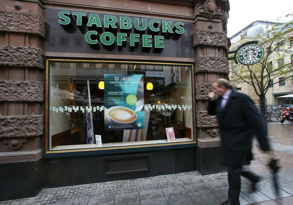 A Starbucks in Frankfurt, Germany. In the year ahead, Starbucks said it plans to open 1,300 new stores, up from the 1,063 it opened in the just completed year.