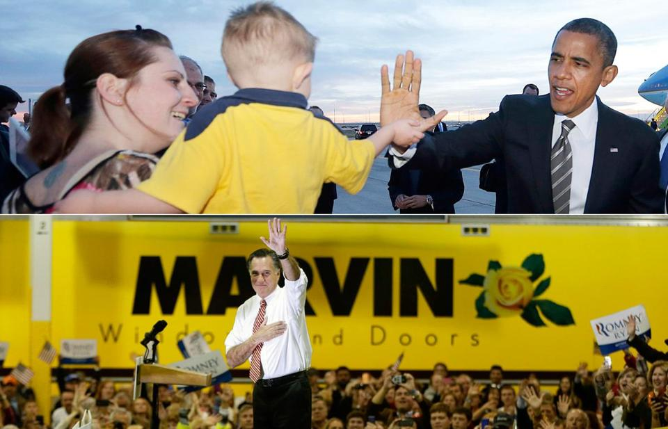 President Obama resumed campaigning with stops in Colorado (above), Nevada, and Wisconsin, while Mitt Romney panned the president at a rally in Virginia.