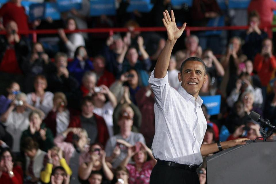 "President Obama, during a rally Saturday inMentor, Ohio, attacked ""protectors of the status quo"" in Washington."