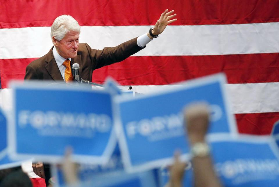 Bill Clinton, here at a campaign event for President Obama in St. Petersburg, Fla., has logged a lot of hours and miles.
