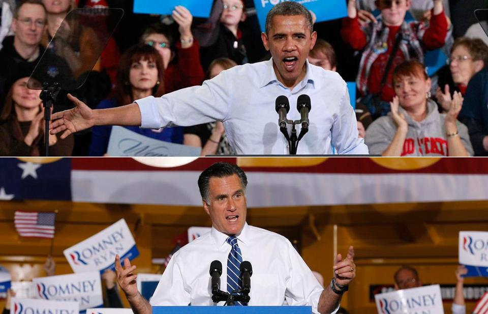 President Obama (in Lima) and Mitt Romney (in Etna) made pitches at rallies in Ohio Friday. A loss in the state would make Romney's path to victory difficult.