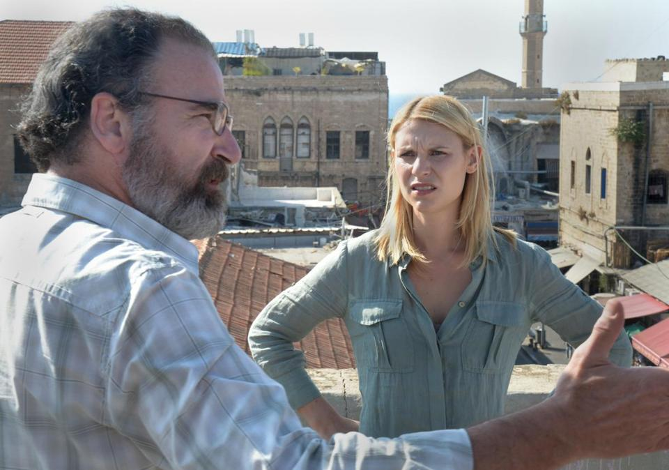 "Saul (played by Mandy Patinkin) keeps pushing Carrie (Claire Danes) into CIA work in Showtime's ""Homeland."""