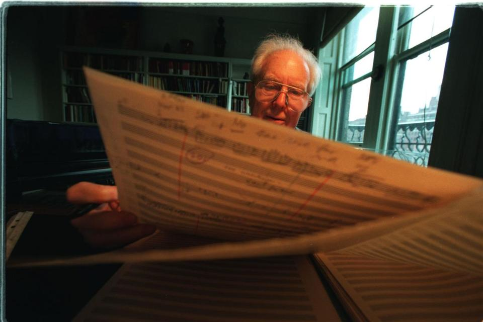 "Elliott Carter's work honoring the Bicentennial, ""A Symphony for Three Orchestras,"" divided that ensemble into three often disputatious groups."