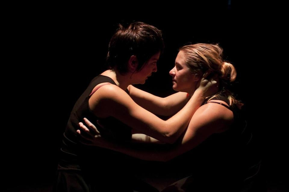 "Aimee Rose Ranger (as Procne) and Jen O'Connor (as Philomela) ""Ted Hughes' Tales From Ovid."""