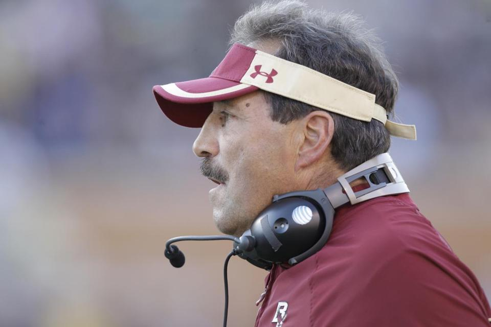 BC coach Frank Spaziani hopes his team can play the spoiler against Notre Dame.