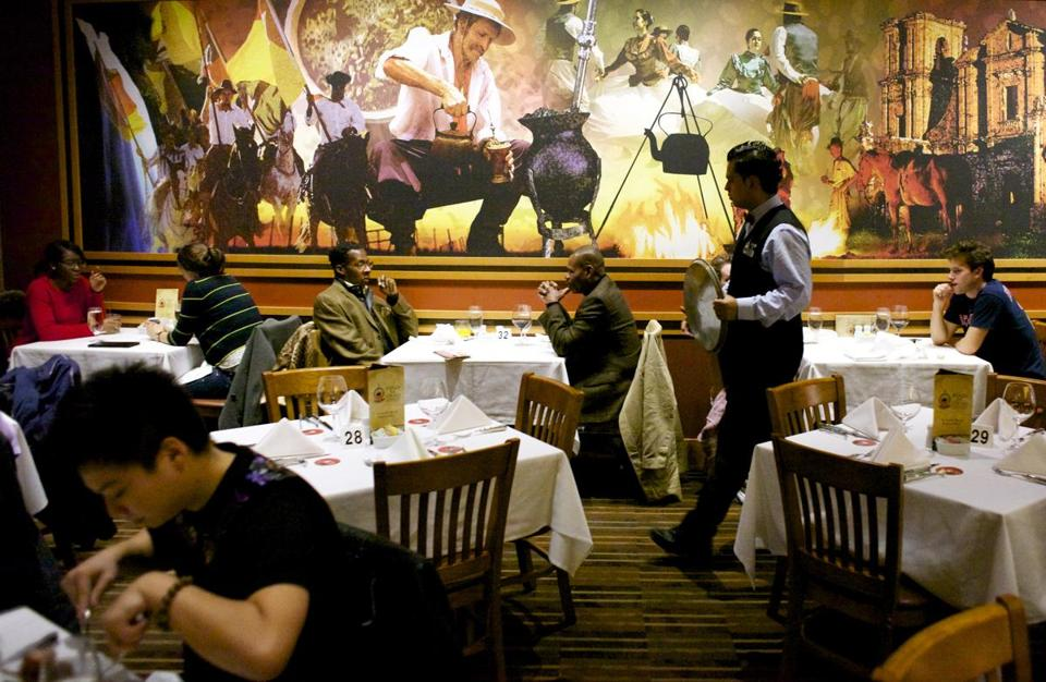 Dine at hot spot Fogo de Chao in Boston.