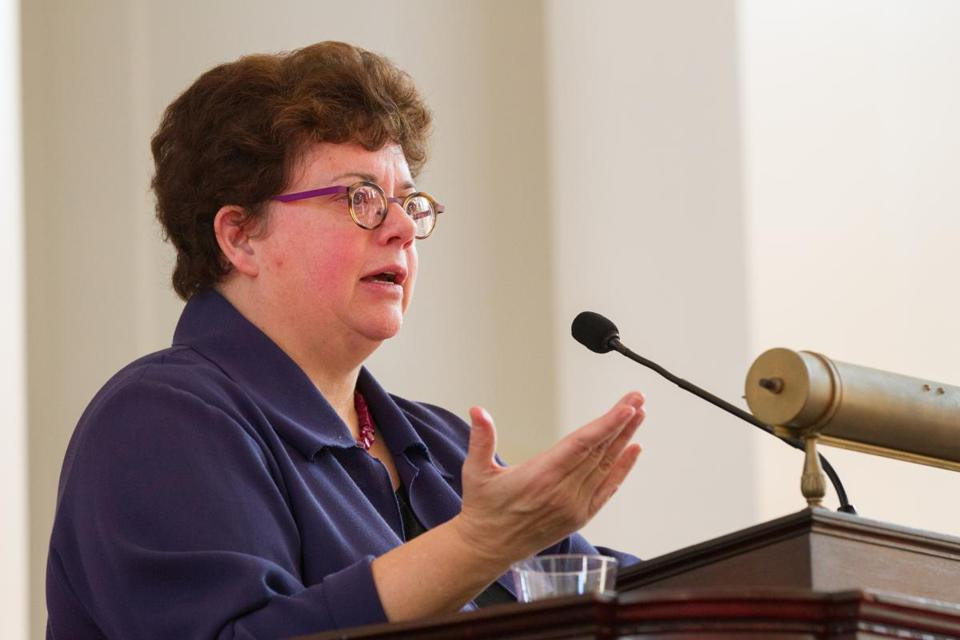 Carolyn Martin, president of Amherst College, plans to discuss the report on Tuesday.