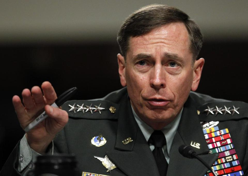 David Petraeus resigned as director of the CIA.