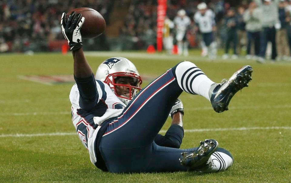 Brandon Lloyd caught two passes in the Patriots' last game two weeks ago — both for TDs.