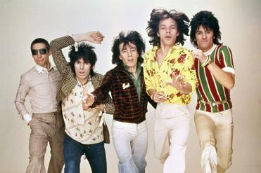 "From left: Charlie Watts, Keith Richards, Bill Wyman, Mick Jagger, and Ronnie Wood in ""Crossfire Hurricane."""