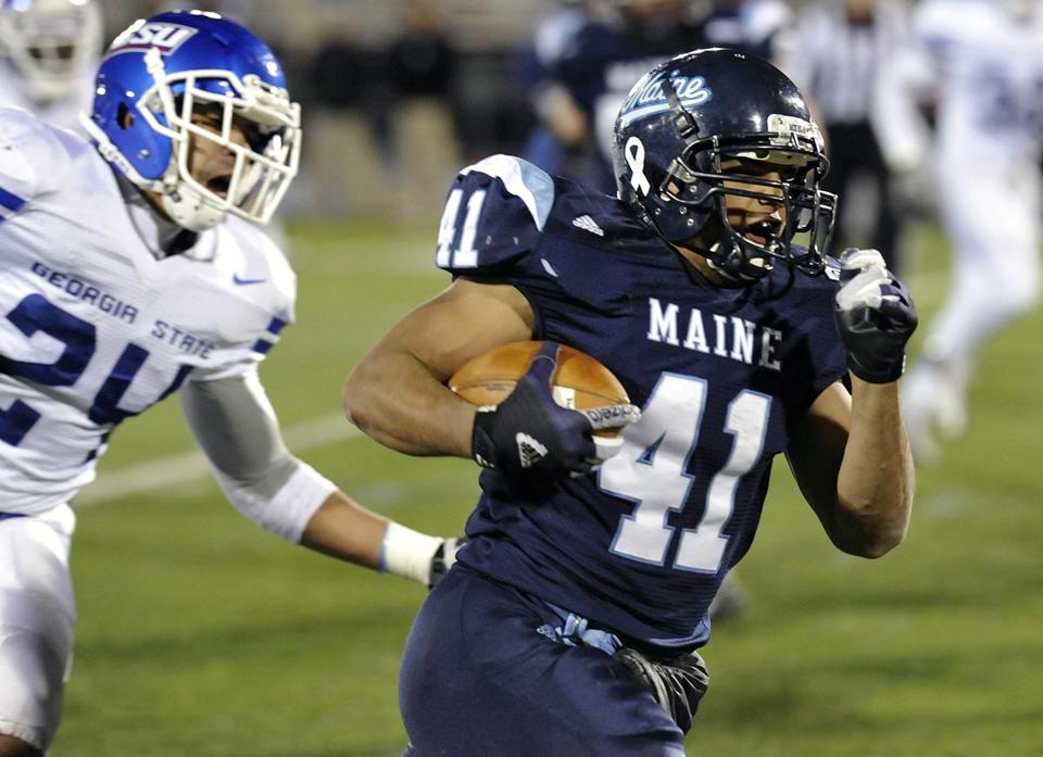 Nigel Jones rushed for a score and caught another to help lead the Black Bears to a victory.