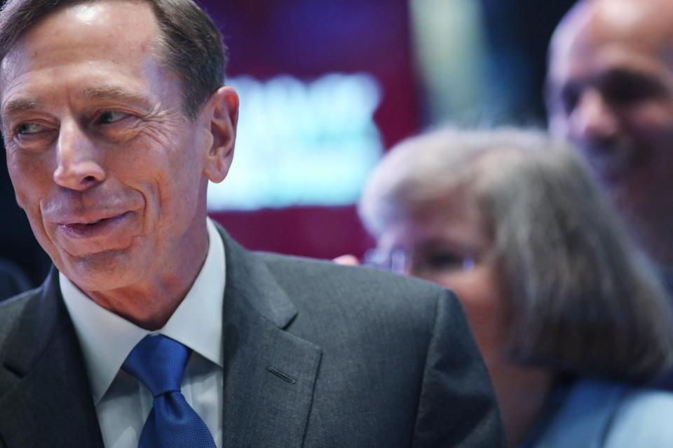 David Petraeus walked the floor of the New York Stock Exchange on Sept. 18 to ring the opening bell.