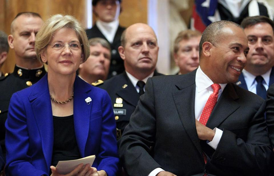 Senator Elizabeth Warren and former governor Deval Patrick both have advantages that could help them launch a national campaign.