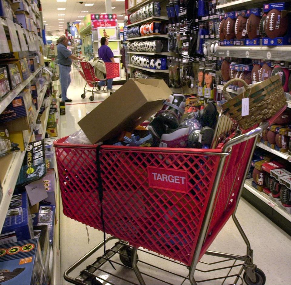 People shopped in the Target at Liberty Tree Mall.