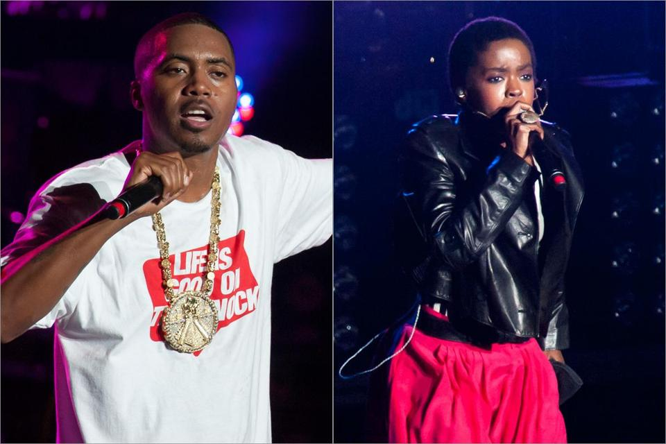 A coheadlining tour brought Nas and Lauryn Hill (both pictured performing in New Jersey in September) to the House of Blues Sunday.