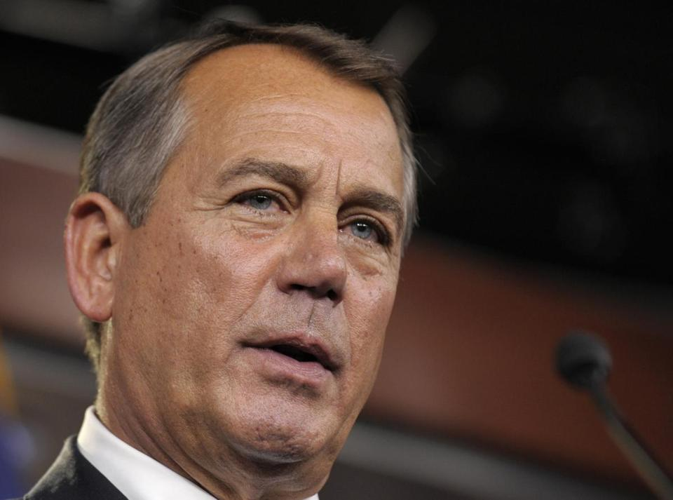 """2013 should be the year we begin to solve our debt,"" John Boehner told reporters."