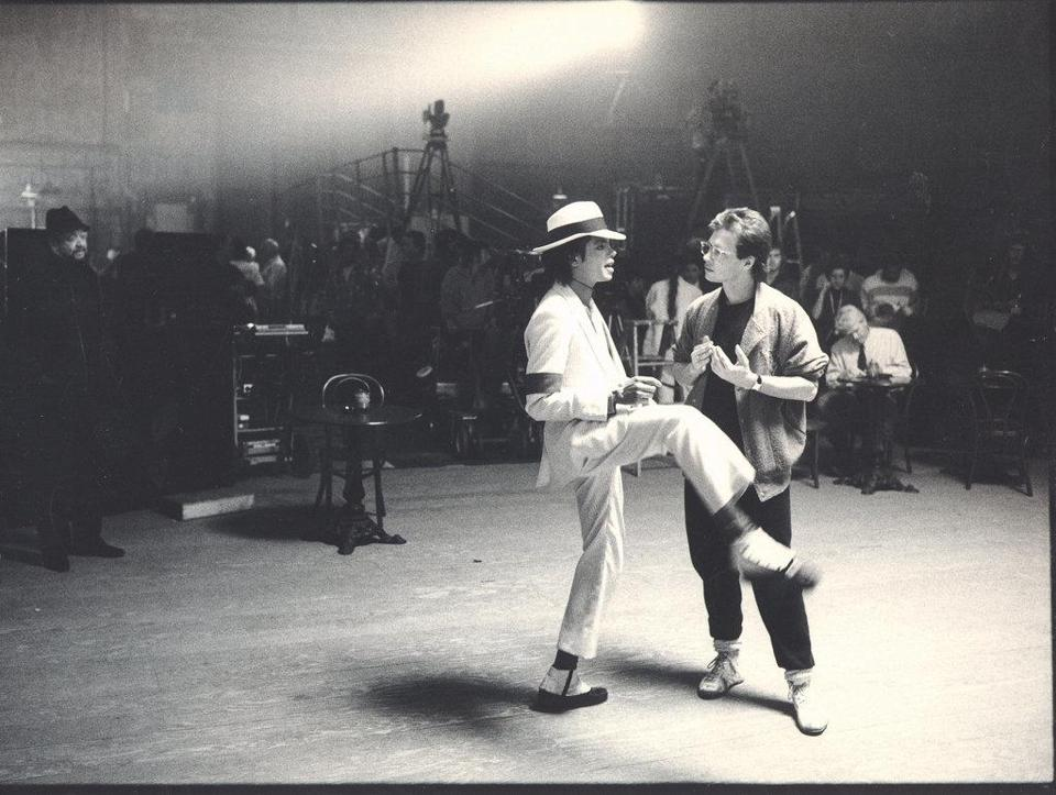 "Michael Jackson and Vincent Patterson worked out the dance for the ""Smooth Criminal"" video in a scene from ""BAD 25."""