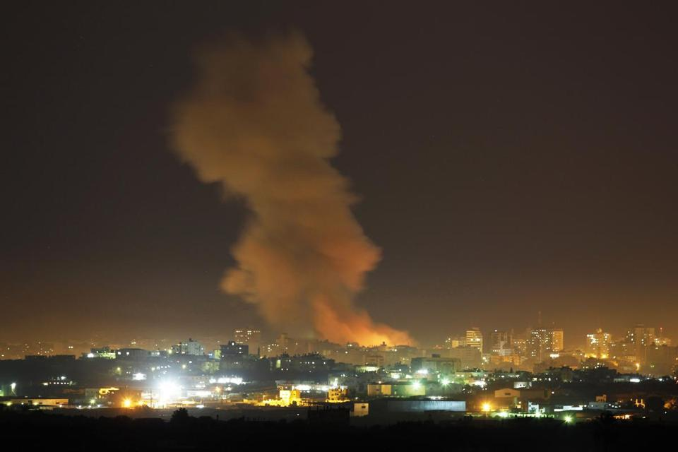 Israel hit at least 20 targets in Gaza on Wednesday, and it warned Hamas leaders to stay out of sight in the coming days.