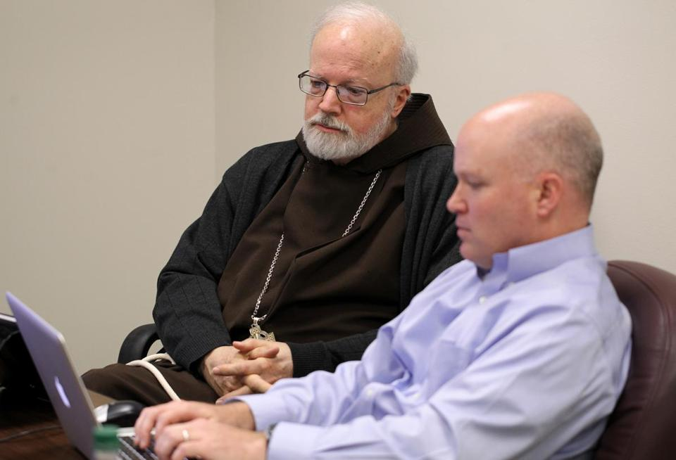 Cardinal Sean O'Malley dictated his answers Friday  for a live webchat on Boston.com.