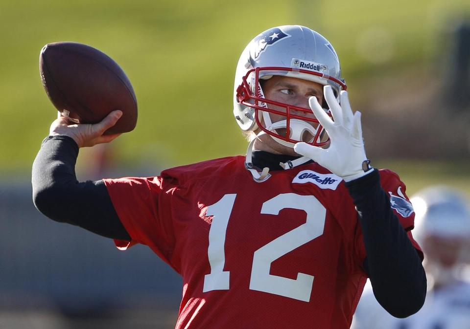 Tom Brady and the Patriots host the Colts on Sunday.