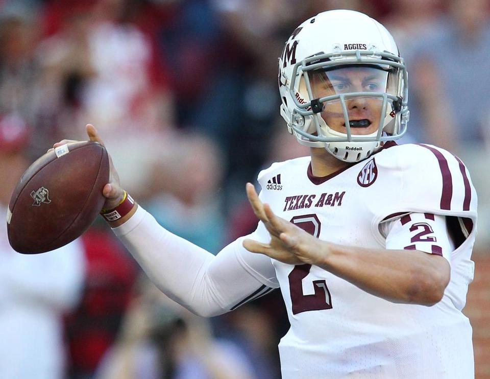 Johnny Manziel led Texas A&M to an upset of No. 1 Alabama last week.