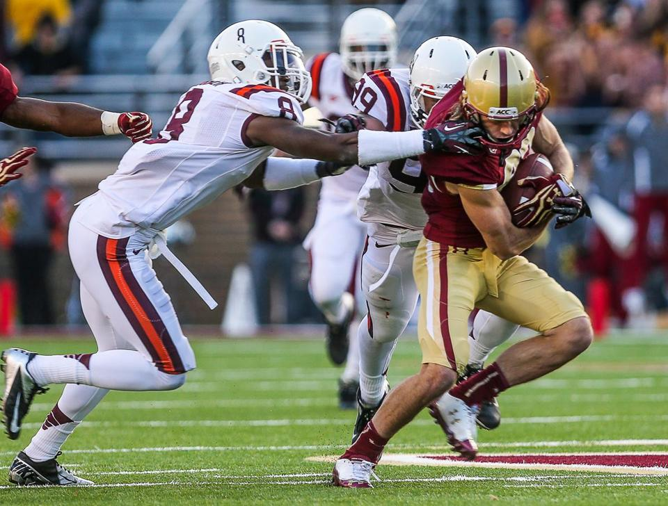 BC wide receiver Alex Amidon earned All-Atlantic Coast Conference honors.