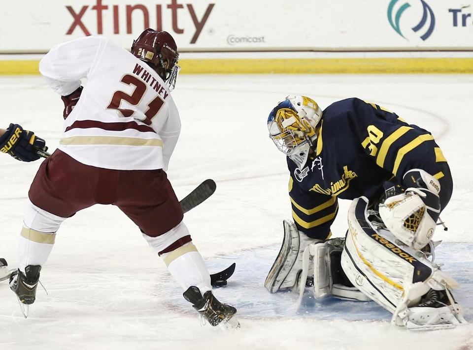 Goaltender Sam Marotta and the Merrimack team have made a surge lately.