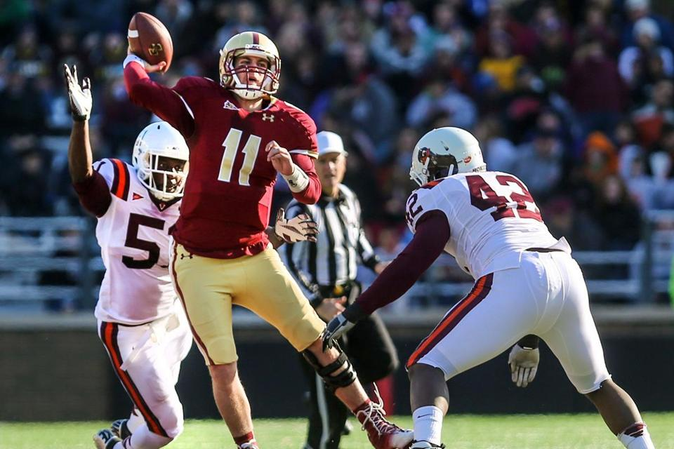 Virginia Tech sacked Chase Rettig seven times and harassed him into 13-for-30 passing.