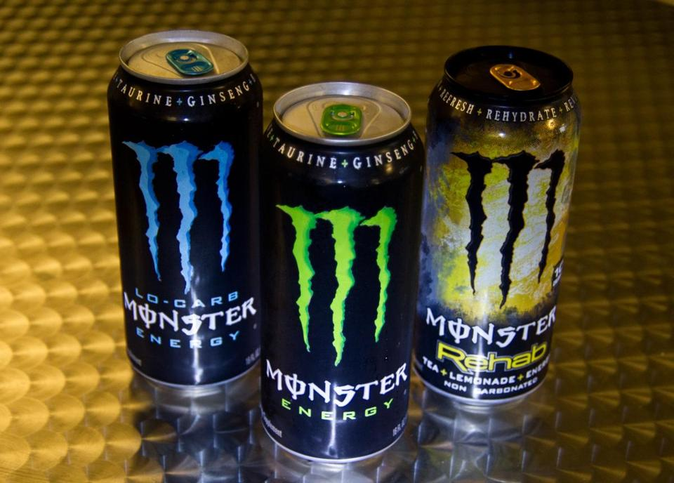 Labeling on Monster's cans say the drinks are not for children or pregnant women.