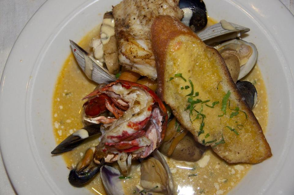 The bouillabaisse is made with all local ingredients.