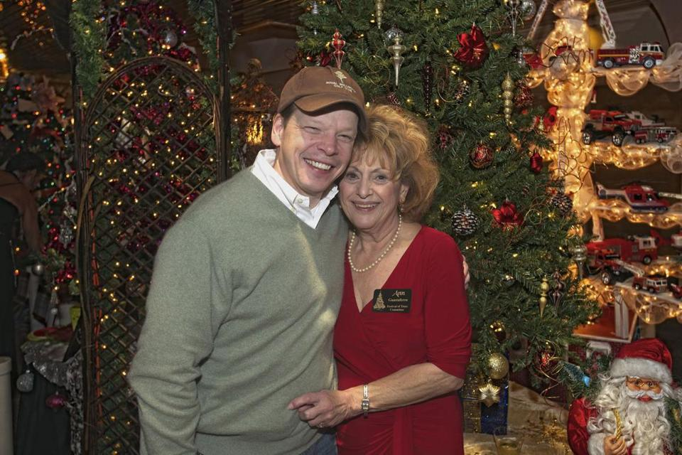 Paul Wahlberg and Ann Guastaferro at the Festival of Trees celebration.