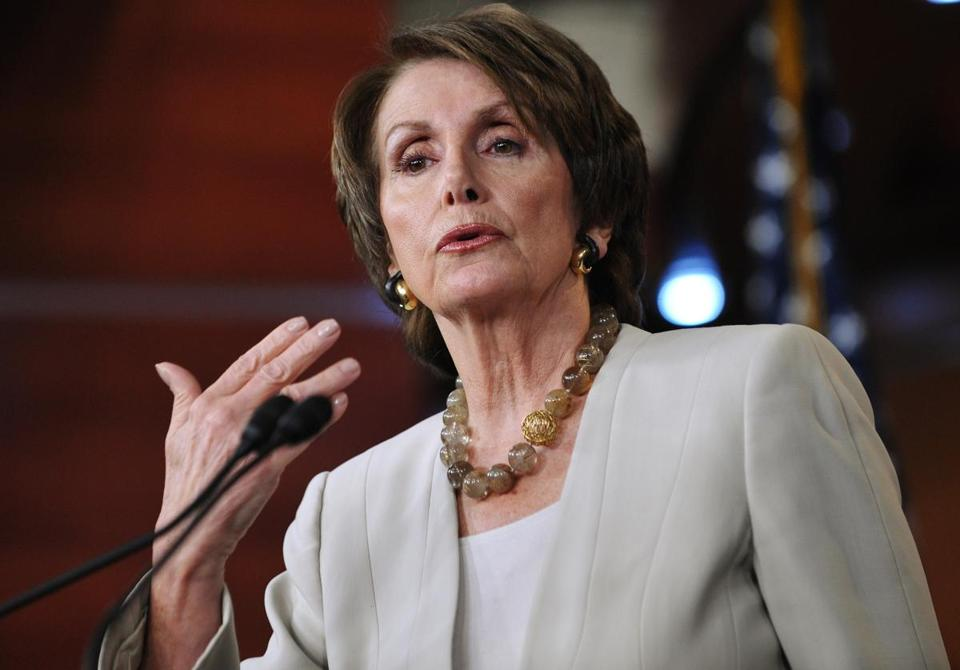 Nancy Pelosi said that any agreement has to include tax-rate hikes for the rich.