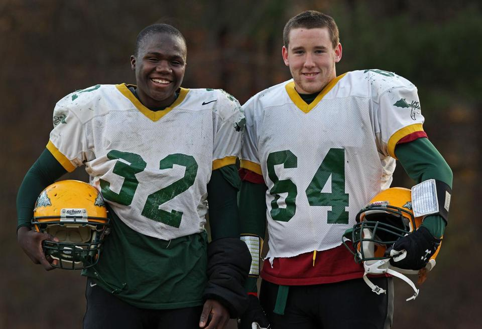 King Phillip football players Fabio Cherant and Pat Lydon will play their last game Thursday.