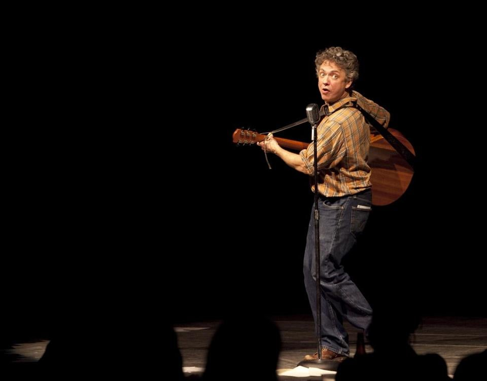 Thomas C. Jones plays Woody Guthrie and 25 other characters in his one-man show.
