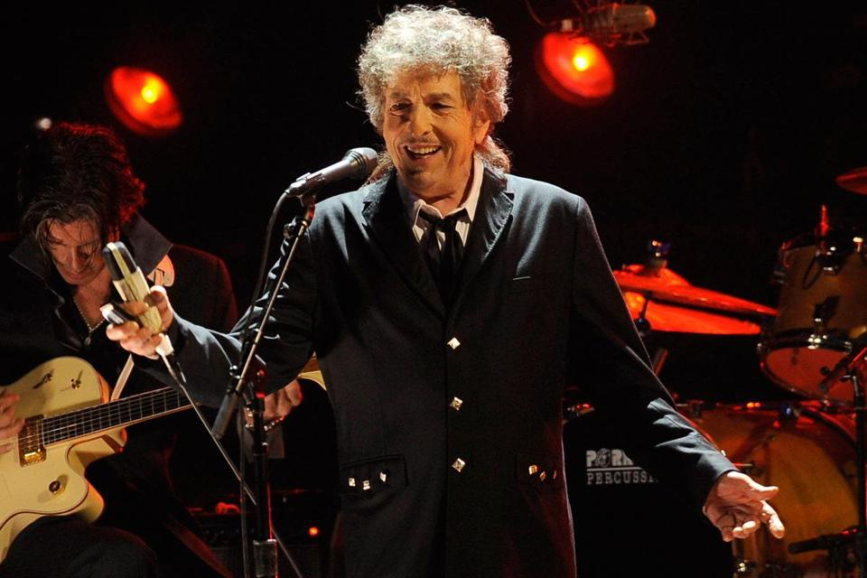 Bob Dylan, here in Los Angeles in January, performed at TD Garden on Sunday night.