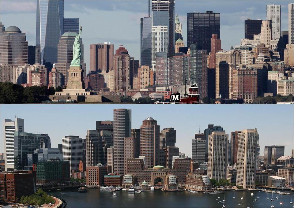 New York (above) has elbowed out Boston as the premier East Coast locale for young digital entrepreneurs.