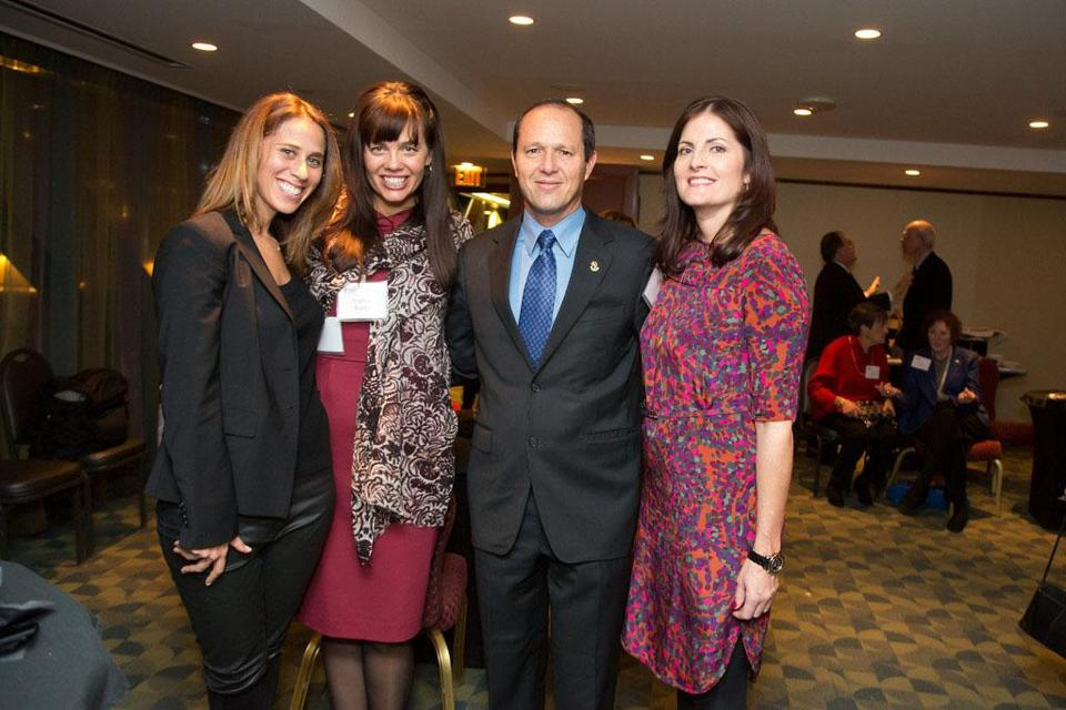 From left: Aimee Falchuk, Nancy Brady, Mayor Nir Barkat, Kim Barnish.