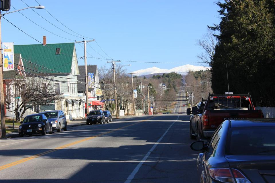 The star billing in Bethlehem, N.H., goes to Mount Washington, visible here from downtown.