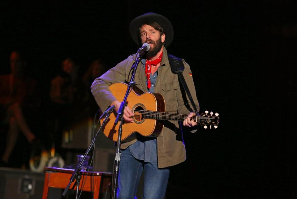 Ray LaMontagne (pictured last month in California) played for two hours in front of a sold-out audience.