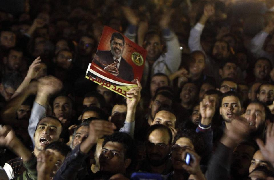 Demonstrators rallied to support Mohammed Morsi's decision to fire Egypt's top prosecutor, a Mubarak-era appointee.