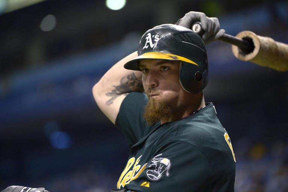 Jonny Gomes batted .262 with 18 home runs in 99 games for the Athletics in 2012.