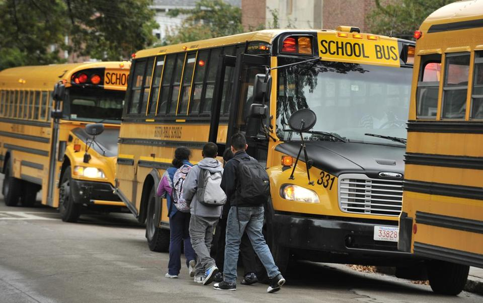 The city shuttles more than 33,000 students every day.