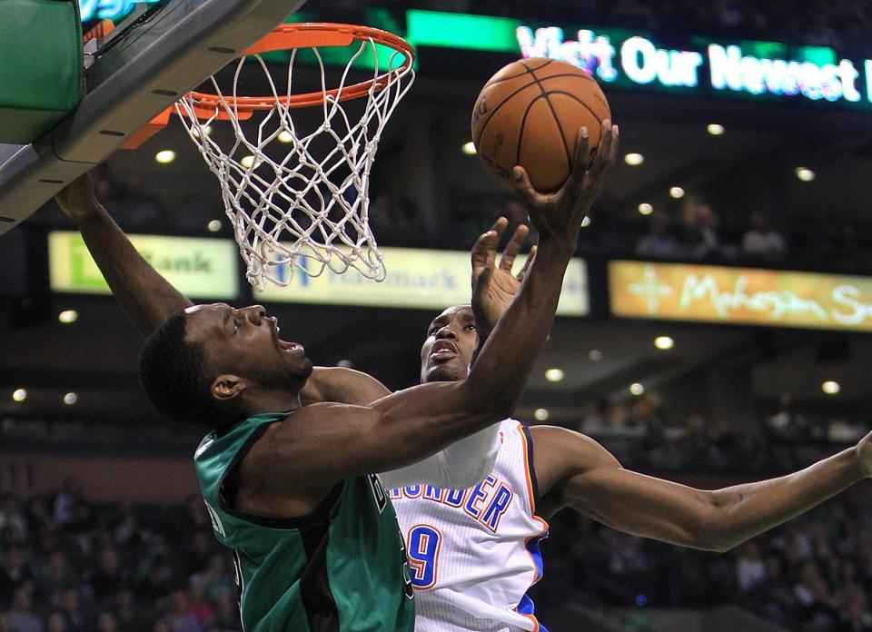 Jeff Green played a leading role for the Celtics in a 108-100 victory over the Thunder, scoring a season-high 17 points in 25 minutes off the bench.
