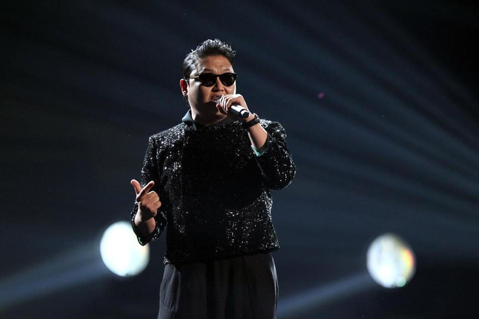 Rapper Psy performing at the American Music Awards last week.