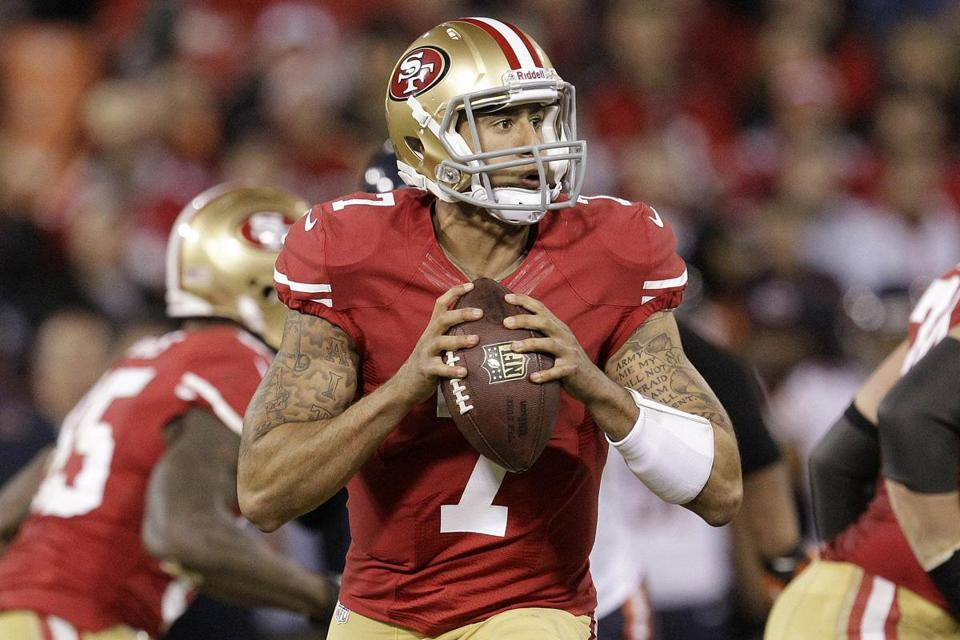 49ers quarterback Colin Kaepernick stepped in for the concussed Alex Smith and was brilliant.
