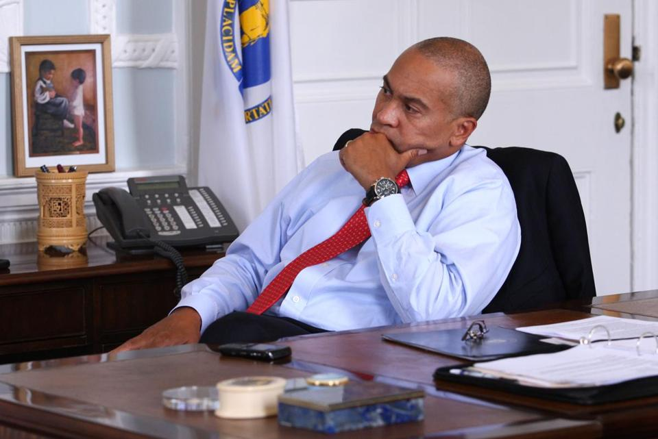 A chief problem for Deval Patrick is the state budget gap.