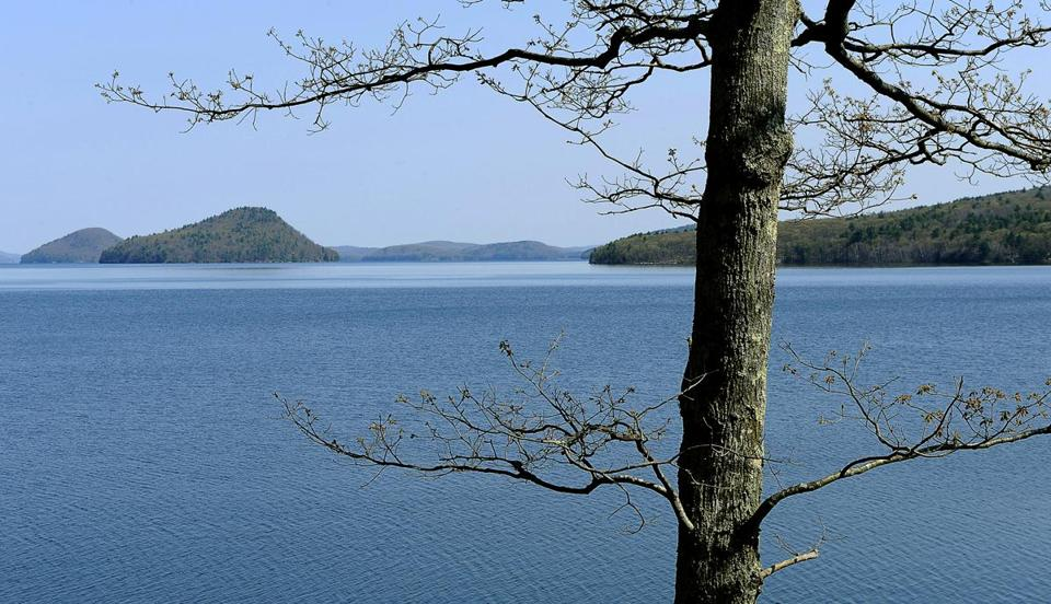 Four towns ceased to exist so that Quabbin Reservoir could be created. Above, a view of Quabbin from Ware.