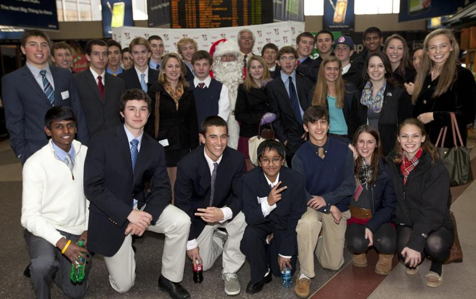 Acton-Boxborough Regional High School's Future Business Leaders of America club visited Globe Santa after a field trip to the Federal Reserve Bank Wednesday in Boston.